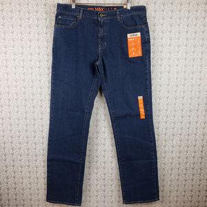 Urban Pipeline Mens Dark Blue Denim Jeans Pants
